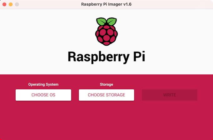 Screenshot of Raspberry Pi Imager